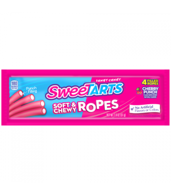 SweeTarts Soft & Chewy Ropes (Formally Kazoozles) - Cherry Punch 1.8oz (51g) Sweets and Candy Nestle