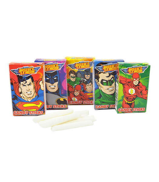 Justice League Candy Sticks w/ Tattoo - 0.52oz (15g) - SINGLE BOX Sweets and Candy