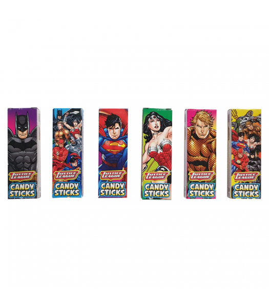 Justice League Candy Sticks (2.6g) - SINGLE BOX Sweets and Candy