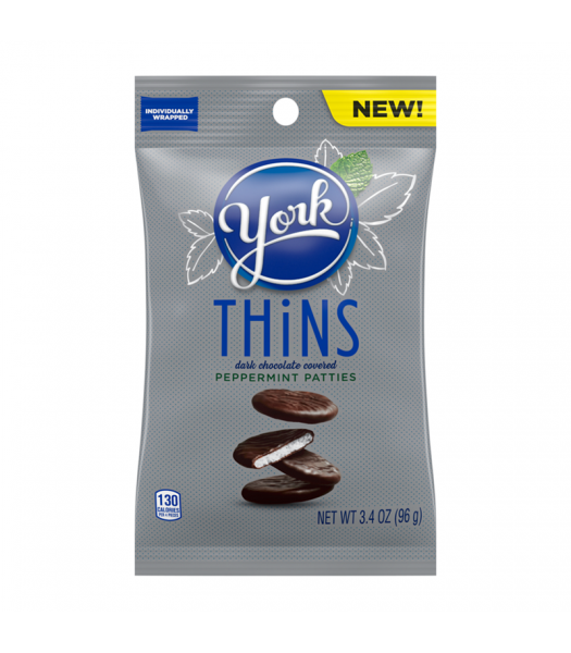 Hershey's York Peppermint Pattie Thins Peg Bag 3.4oz (96g) Sweets and Candy York