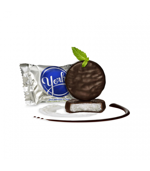 York Miniature Peppermint Pattie - 0.48oz (13.6g) - SINGLE Sweets and Candy York