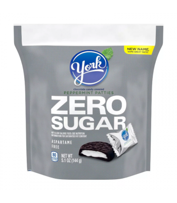 York Zero Sugar Peppermint Patties - 5.1oz (144g) Sweets and Candy York
