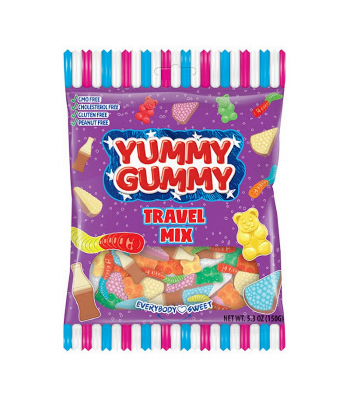 Yummy Gummy Sour Travel Mix - 5.3oz (150g) Sweets and Candy