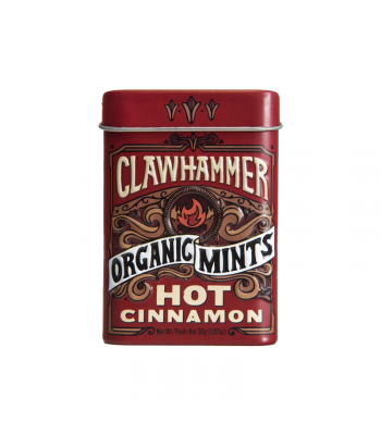 Clawhammer Organic Mints Hot Cinnamon - 1.07oz (30g) Canadian Products