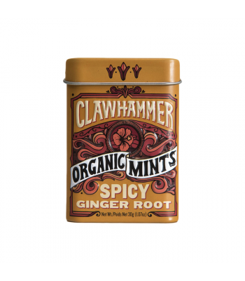 Clawhammer Organic Mints Spicy Ginger Root - 1.07oz (30g) Canadian Products