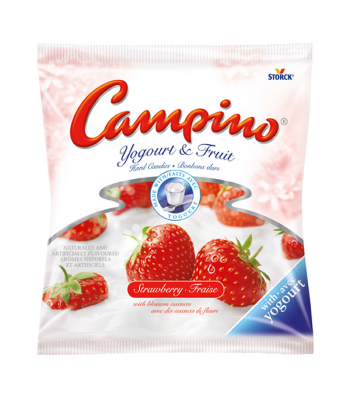 Campino Yogurt & Fruit Hard Candies Strawberry 120g Canadian Products