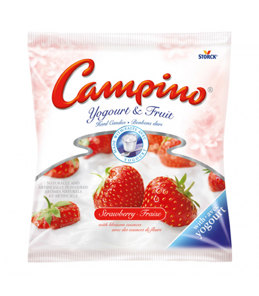 Campino Yogurt & Fruit Hard Candies Strawberry 120g Canadian Products