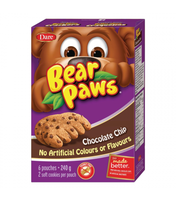 Dare - Bear Paws - Chocolate Chip - 6-Pack (240g) [Canadian]