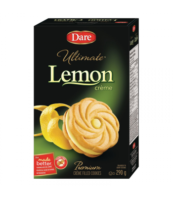 Dare - Ultimate Lemon Crème Filled Cookies - 290g [Canadian]