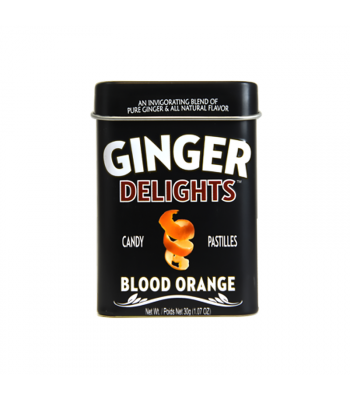 Ginger Delights Candy Pastilles - Blood Orange - 1.07oz (30g) Sweets and Candy