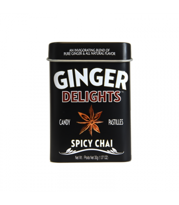 Ginger Delights Candy Pastilles - Spice Chai - 1.07oz (30g) Sweets and Candy
