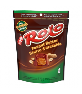 Nestle Rolo Peanut Butter Peg Bag 170g Canadian Products Nestle