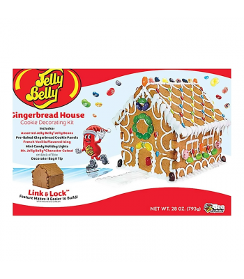 Bee Jelly Belly Gingerbread Xmas Cottage Kit - 1.69lb (765g) Cookies and Cakes Jelly Belly