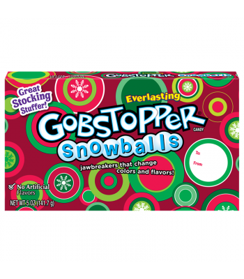 Everlasting Gobstopper Snowballs - Theatre Box - 5oz (142g) [Christmas] Sweets and Candy Nestle