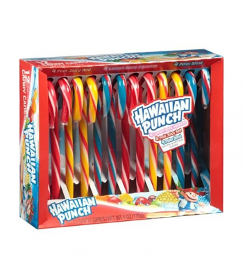 Hawaiian Punch Candy Canes - 5.3oz (150g) Sweets and Candy Hawaiian Punch