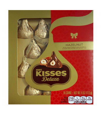 Hershey's Christmas Kisses Deluxe Hazelnut 4oz (114g) Sweets and Candy