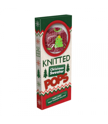 Knitted Christmas Sweater Lollipops - 60g Sweets and Candy