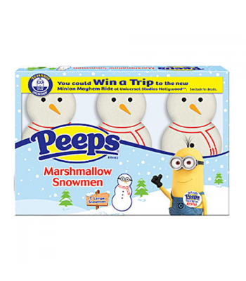 Clearance Special - Peeps - Marshmallow Snowmen - 3 Pack - 1.125oz (32g) ** BEST BEFORE: July 2019 ** Clearance Zone