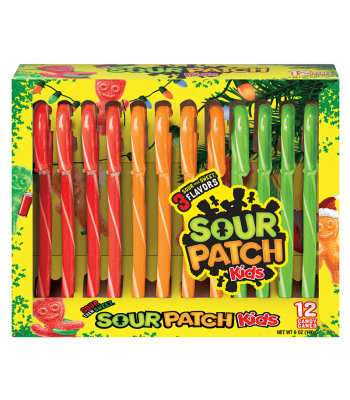 Sour Patch Kids Candy Canes 6oz (170g) [Christmas] Sweets and Candy Sour Patch