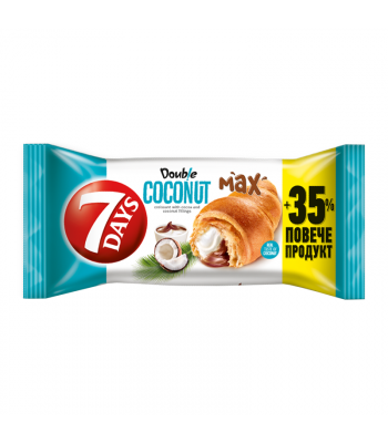7 Days Double Coconut & Cocoa Soft Filled Croissant - 110g Cookies and Cakes