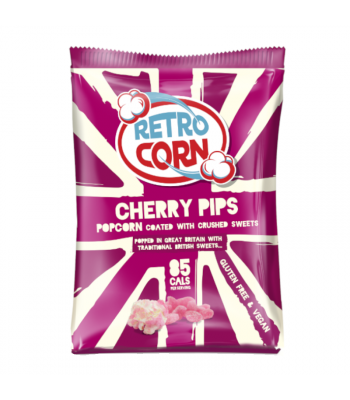 Retrocorn Cherry Pips Popcorn - 35g Snacks and Chips