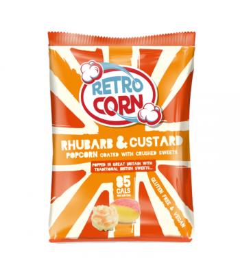 Retrocorn Rhubarb & Custard Popcorn - 35g Snacks and Chips