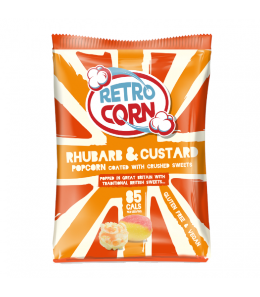Retrocorn Rhubarb & Custard Popcorn - 35g Snacks and Chips