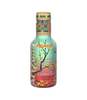 AriZona Original Green Tea with Honey and Peach - 500ml Soda and Drinks Arizona