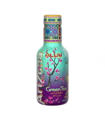 AriZona Original Green Tea with Honey and Plum - 500ml Soda and Drinks Arizona