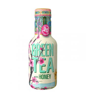 AriZona Green Tea with Honey Low Calorie - 500ml Soda and Drinks Arizona