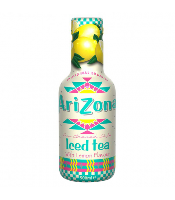 AriZona Sun Brewed Style Iced Tea with Lemon Flavour - 500ml Soda and Drinks Arizona