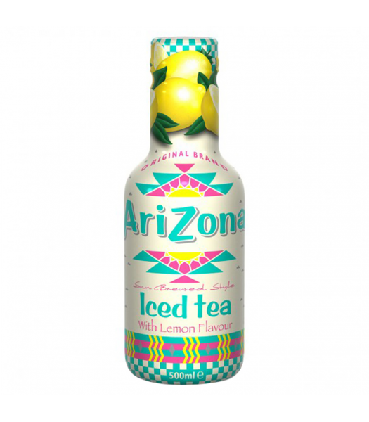 AriZona Sun Brewed Style Iced Tea with Lemon Flavour - 500ml Soda and Drinks Arizona