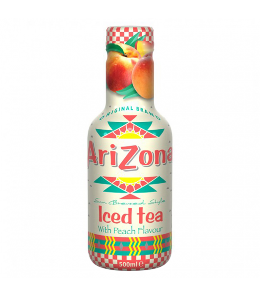 AriZona Sun Brewed Style Iced Tea with Peach Flavour - 500ml Soda and Drinks Arizona