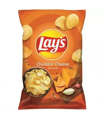 Lay's Cheddar Cheese Flavoured Potato Crisps - 140g Snacks and Chips Frito-Lay