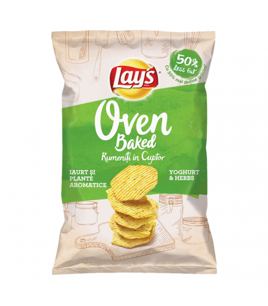 Clearance Special - Lay's Oven Baked Yogurt with Herbs - 125g (EU) **Best Before: 15 August 21** Clearance Zone