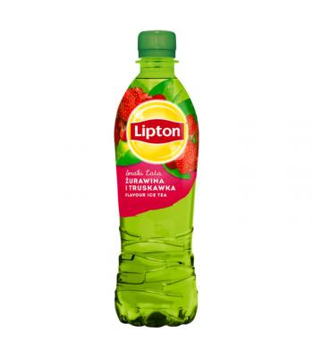 Lipton Cranberry & Strawberry Flavour Green Ice Tea  - 500ml (EU) Soda and Drinks