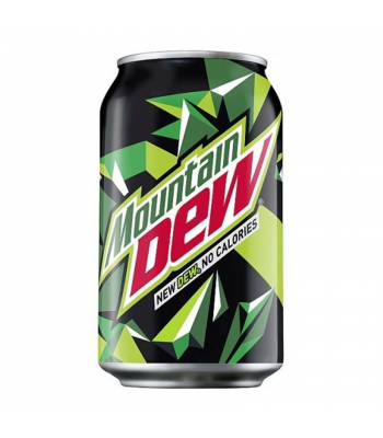"Mountain Dew (EU) ""New Dew. No Calories."" (330ml) Soda and Drinks Mountain Dew"