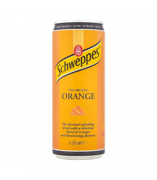 Schweppes Orange 330ml Soda and Drinks
