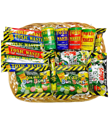 Toxic Waste Super Sour Candy Hamper Gift Hampers