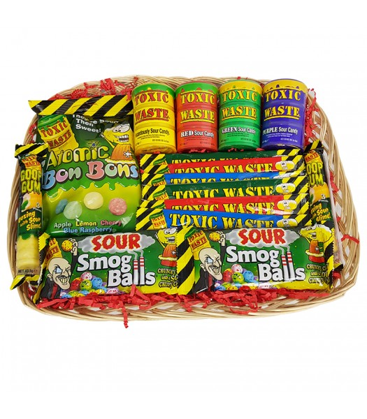 Toxic Waste Super Sour Candy Hamper Gift Hampers Toxic Waste