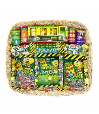 Toxic Waste Extreme Sour Large Gift Hamper Gift Hampers Toxic Waste