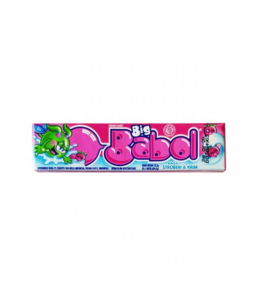 Big Babol Bubblegum Strawberry & Cream (22.5g) Sweets and Candy