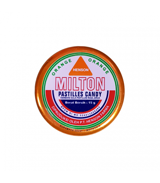 Milton Candy Pastilles - Orange (15g) Sweets and Candy