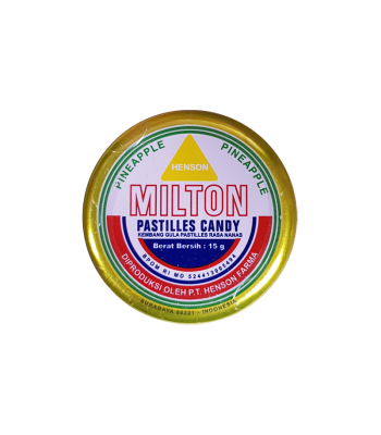 Milton Candy Pastilles - Pineapple (15g) Sweets and Candy