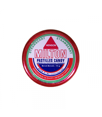 Milton Candy Pastilles - Strawberry (15g) Sweets and Candy