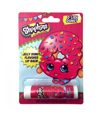 Shopkins D'lish Jelly Donut Lip Balm - 0.15oz (4.25g) Novelty Candy