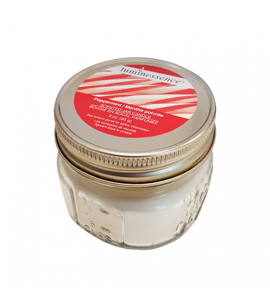 Luminessence Peppermint Scented Jar Candle - 3oz (85g)