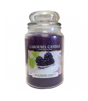 Carousel Candle - Blackberry Vanilla Large Jar Candle 23oz