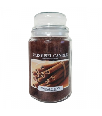 Carousel Candles - Cinnamon Stick Large Jar Candle 23oz