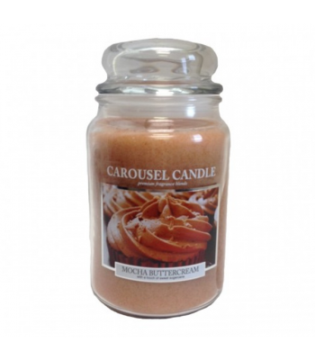 Carousel Candles - Mocha Buttercream Large Jar Candle 23oz